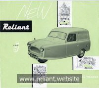 Reliant Regal Mk IV brochure