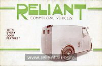 Reliant 7cwt brochure