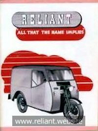 Reliant 8cwt brochure