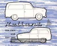 Reliant Regal Mk IIV brochure