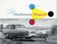 Reliant Regal Mk V brochure