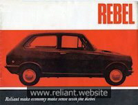 Reliant Rebel Brochure