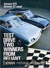 Reliant Scimitar GT Brochure