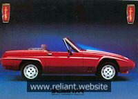 Reliant Scimitar SS1 Brochure