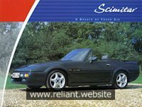 Reliant Sabre Brochure
