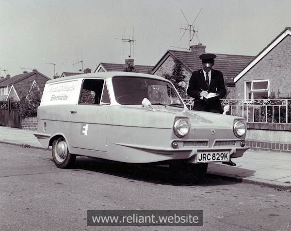 Reliant Regal 3/30 used by East Midlands Electricity