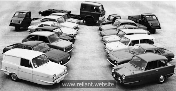 Reliant Range of vehicles circa 1960s