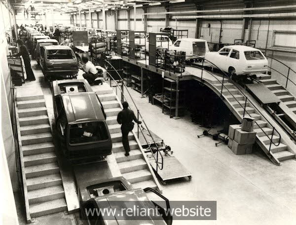 Reliant Robin Assembly Line